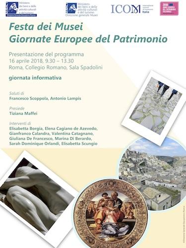 Festa dei Musei - Giornate Europee del Patrimonio