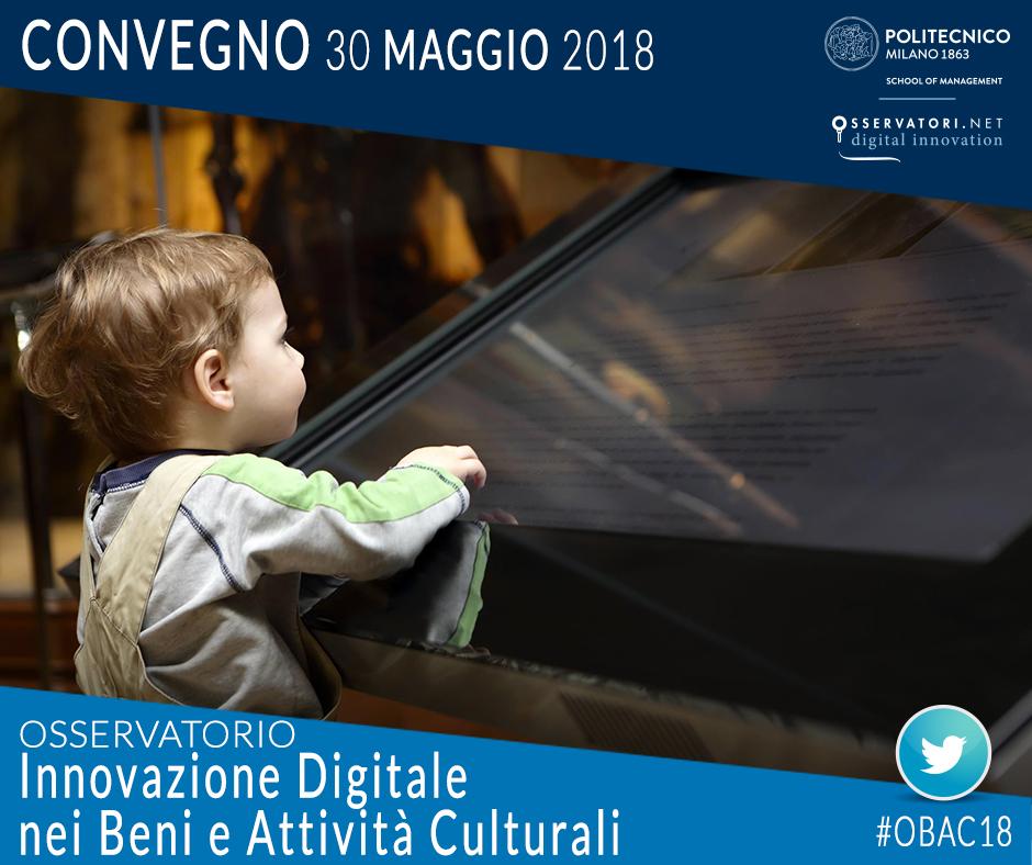 Convegno Innovazione Digitale nei Beni e Attività Culturali