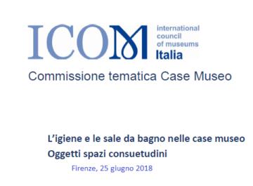"""Commissione Tematica Case Museo: Call for Paper e incontro """"L'igiene e le sale da bagno nelle case museo"""""""