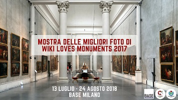 Wiki Loves Monuments a BASE Milano: in mostra gli scatti premiati nel 2017