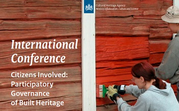Participatory Governance of Built Cultural Heritage | Amersfoort (Paesi Bassi), 3-4 ottobre 2018