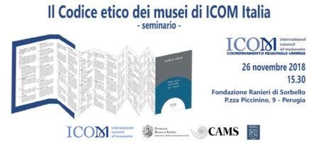 Incontro sul Codice Etico di ICOM - Coordinamento Regionale Umbria