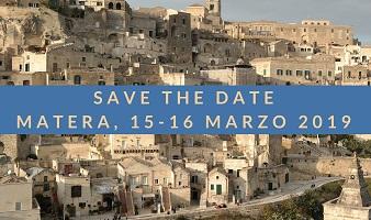 Save the date! 15-16 marzo 2019, Matera - Convegno internazionale sui depositi museali e Assemblea Annuale dei Soci