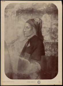 Ritratto di Dante su carta all'albumina
