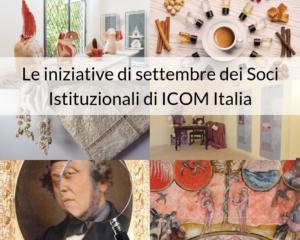 Le iniziative di settembre dei Soci Istituzionali di ICOM