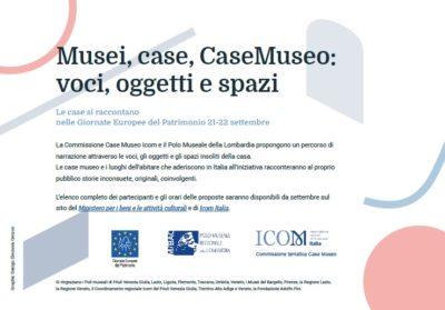 Musei, case, CaseMuseo: voci, oggetti e spazi