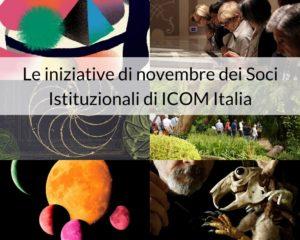 Le iniziative di novembre dei Soci Istituzionali di ICOM
